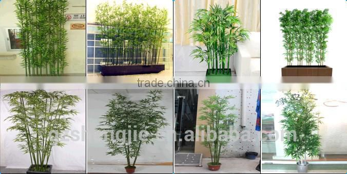 LXY160402 High Quality Green Bamboo Decoration Fence