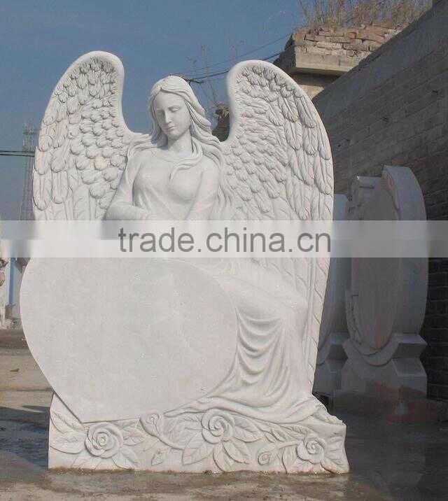 Tombstone.Hand carved cemetery angel statue tombstone