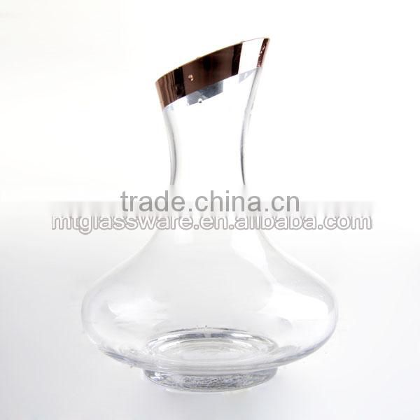 Rose gold electroplating of mouth wine decanter