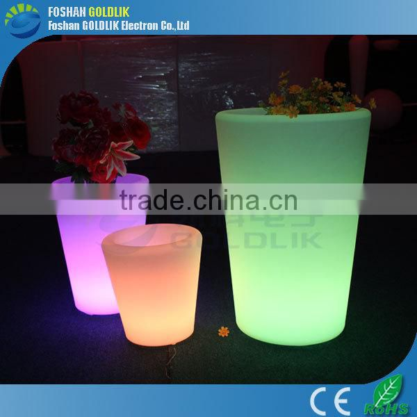 Wifi Control Garden Use Drainage Water LED Glowing Flower Pot