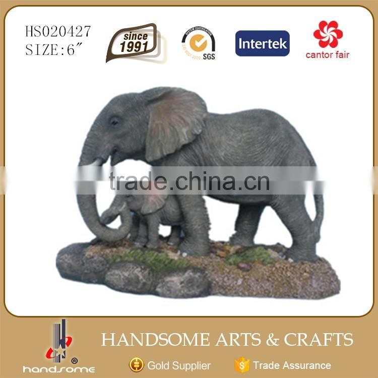 6 Inch Resin Animal Figurines Home Decor Elephant Statue