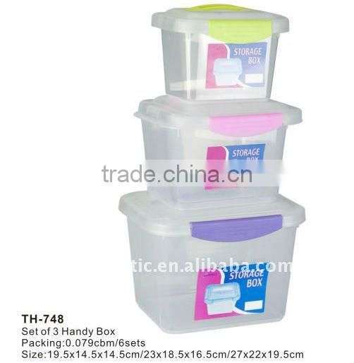 plastic storage box with lid,plastic suitcase,pp storage box