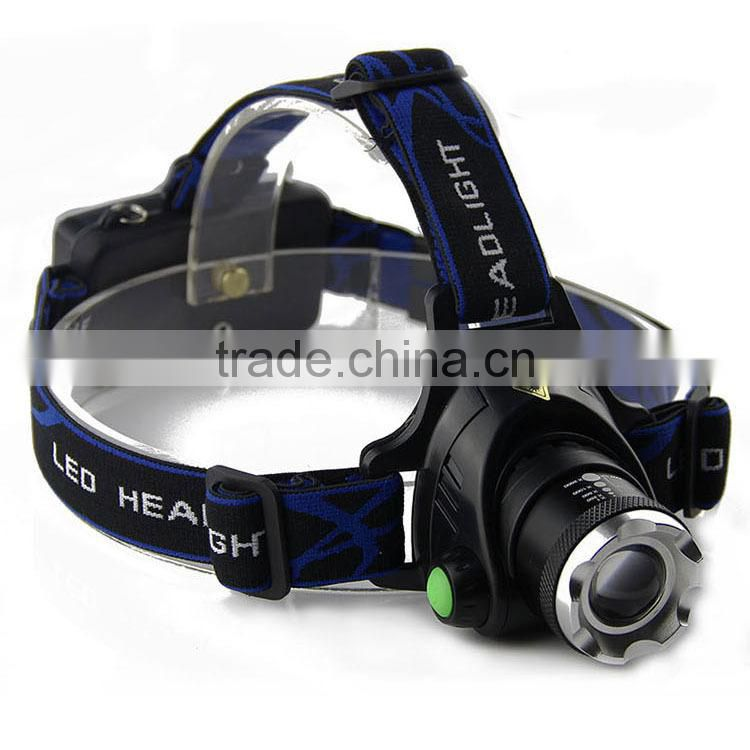 hot selling led headlamp 2x18650 rechargeable li-ion batteries ultrabright XML-T6 LED headlamp