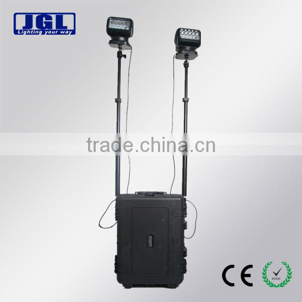 2*50W High power extensible mobile railway spotlight multifunctional commercial remote lighting