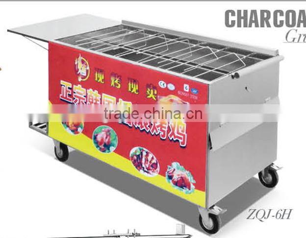 All Stainless steel Charcoal chicken rotisserie oven Chicken Barbecue grill Oven