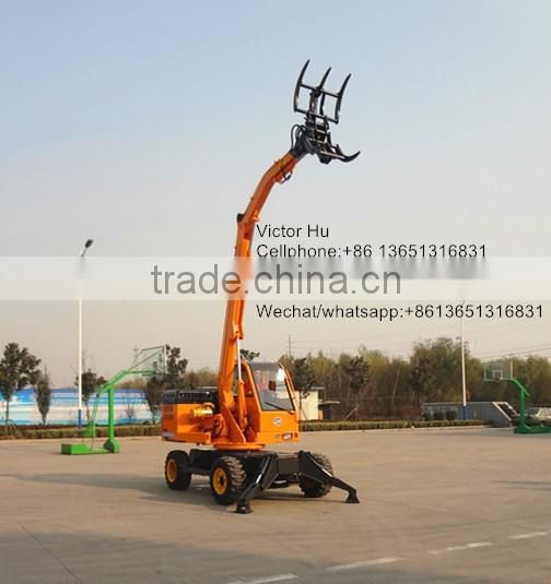Hay cured hay grass grasping machines