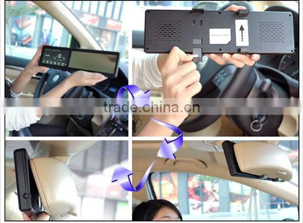 4.3 inch rear view mirror gps navigation