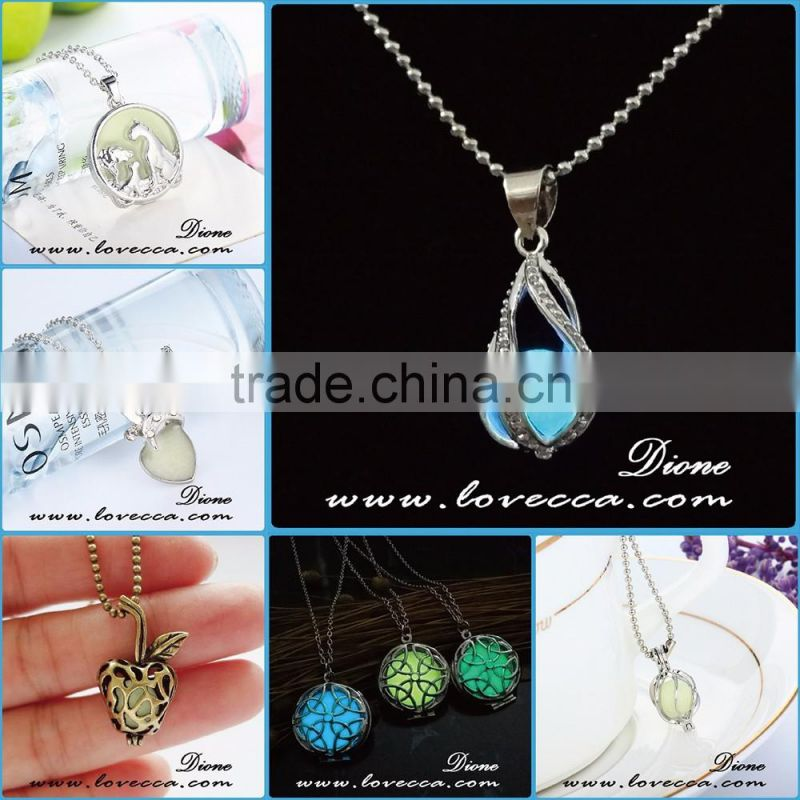 Wholesale high quality jewerly hollow pendant glowing in the dark