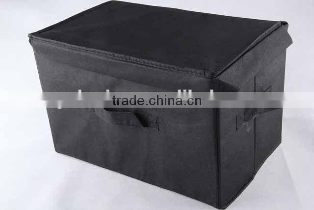 square non-woven box with cover and handle/storage box