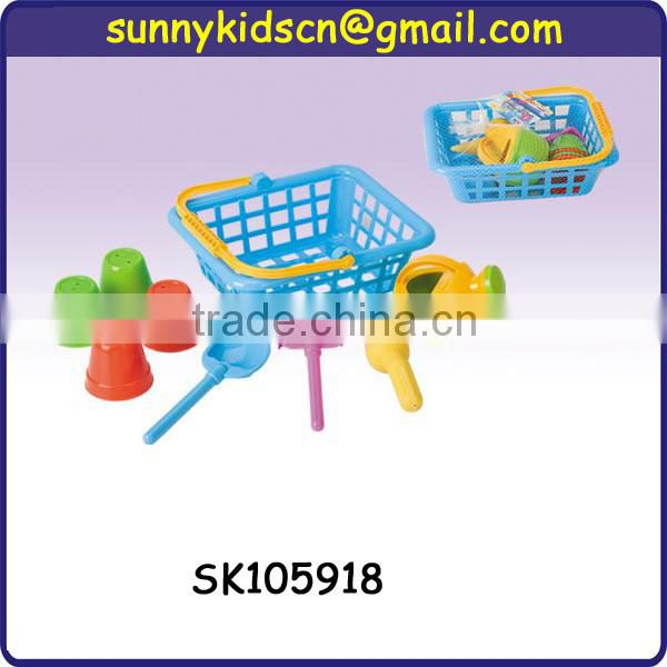 plastic sand beach toy truck for children