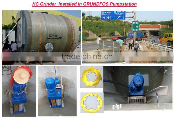 In-channel grinder with 1 drum