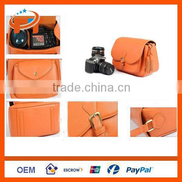 PU Leather DSLR SLR Camera Case Bag For Olympus
