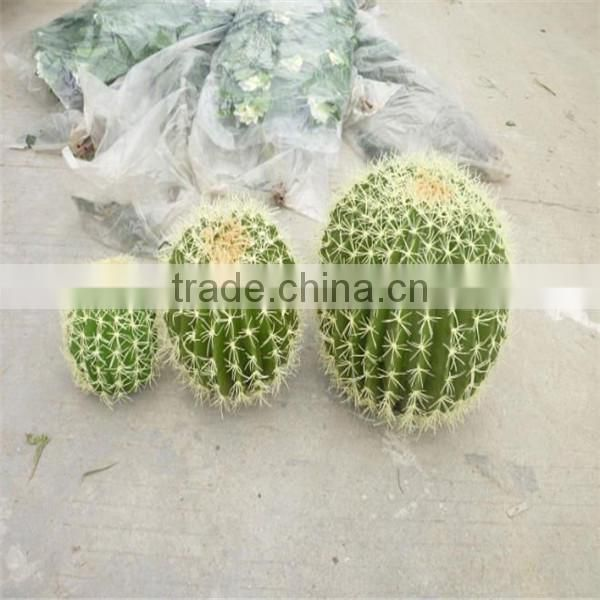 SJM091029 Top quality outdoor decoration artificial cactus p .e . plant /prickly pear plant