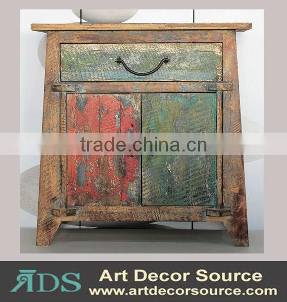 modern and antique wooden cabinet with many drawers