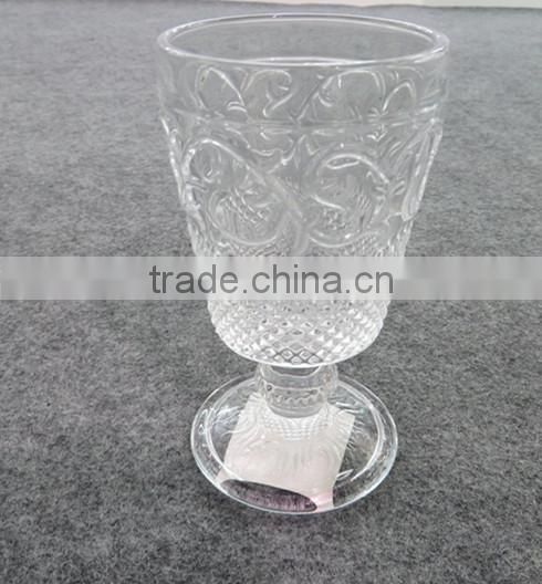 Stylish Home Essential Mini Clear Pedestal Tea Glass Cup with Handle