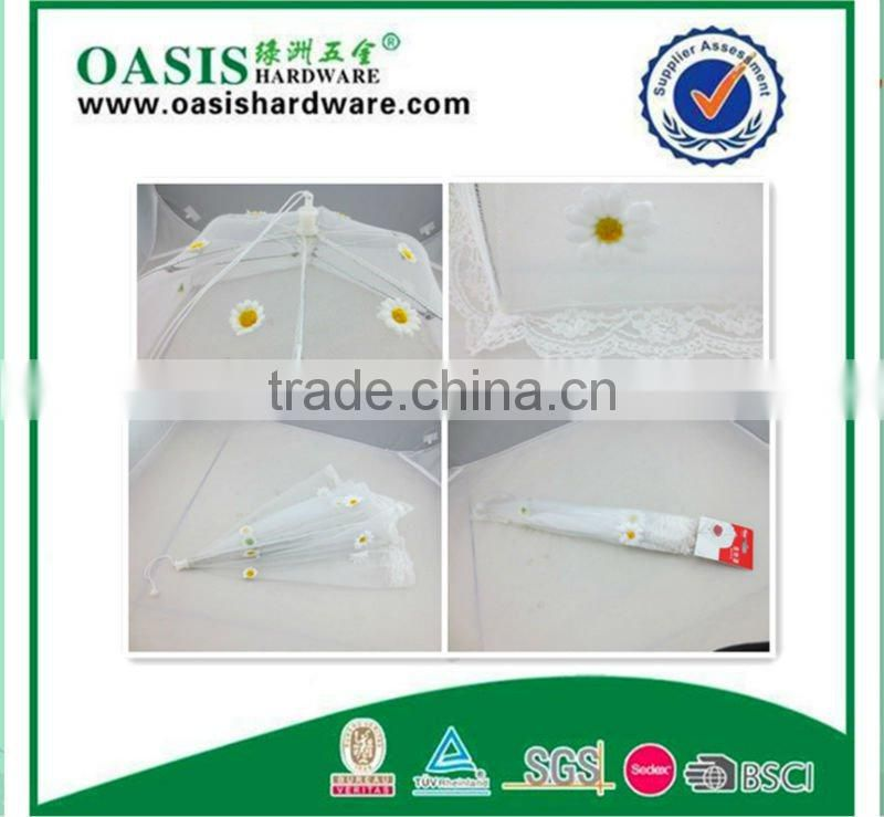 HIGH QUALITY food cover beautiful with flower net cloth