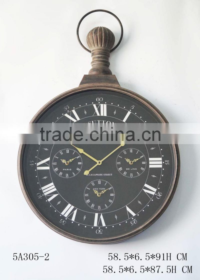 industrial french style rustic clock for wall decoration