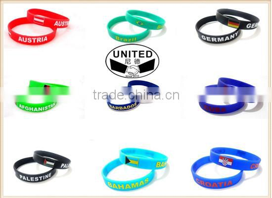 Medical Alert Blue Surgical Grade Silicone Rubber Bracelet Wristband Emergency