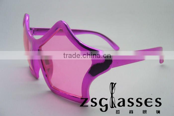 Cheap promotional star shaped red color sunglasses for party