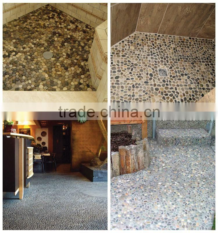 Colored River Stone Tile Mixed Pebble Tile Shower Floors
