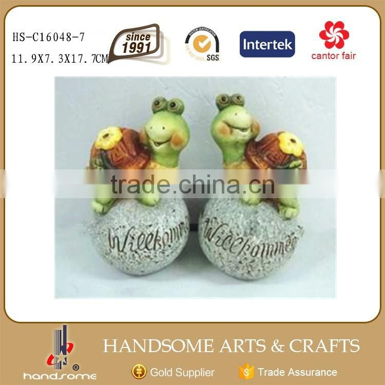 Ceramic Handmade Craft Animal Figurines Tortoise Garden Sculpture