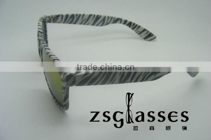 New product cheap designer sunglasses for sale/ zebra Colour/Meet CE standard,UV400 Protection