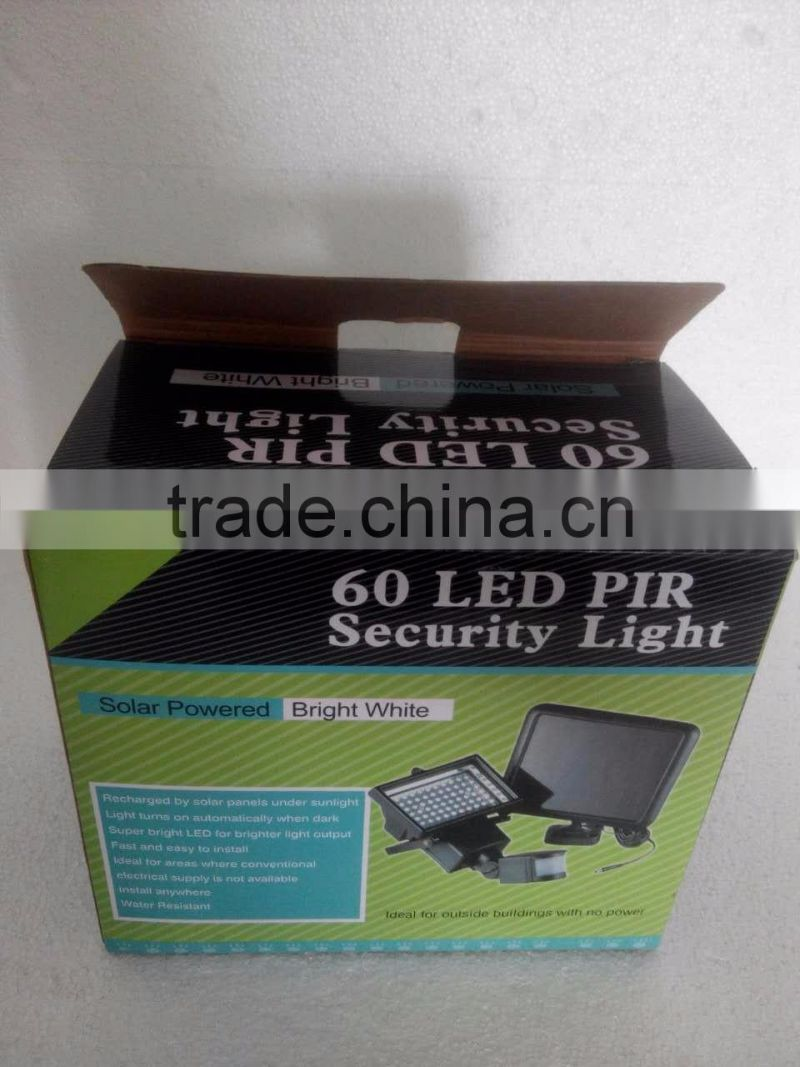 60 led security 180 degree solar motion sensor light