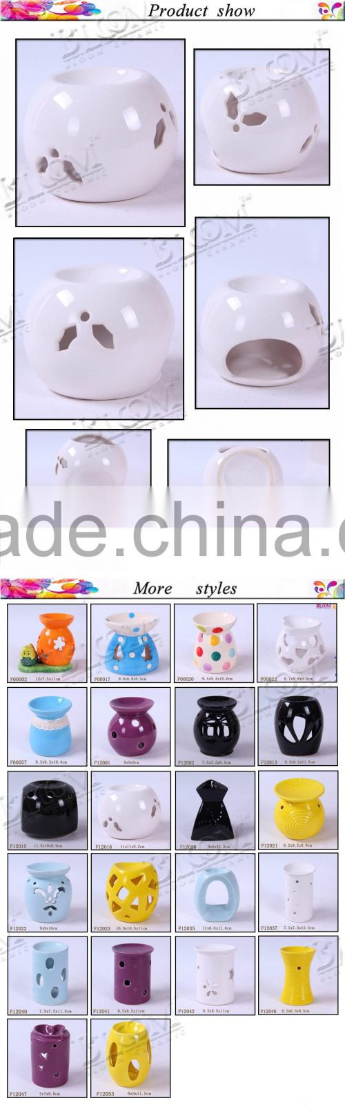 White decoration ceramic incense burners wholesale