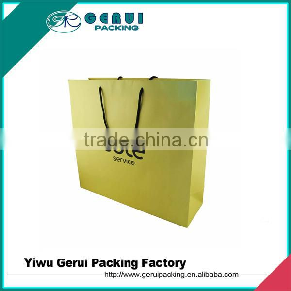 2016 Hot Sell Art Paper Logo Gold Foil Paper Bag For Clothes Packaging