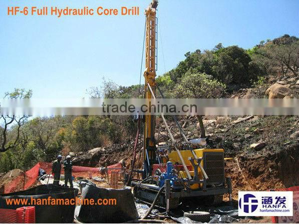 HF-6 mining core drill rig for taking rock samples