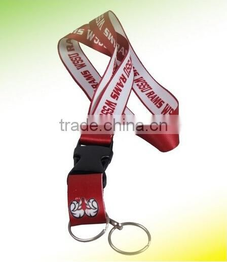 20mm custom polyester lanyard with rubber patch