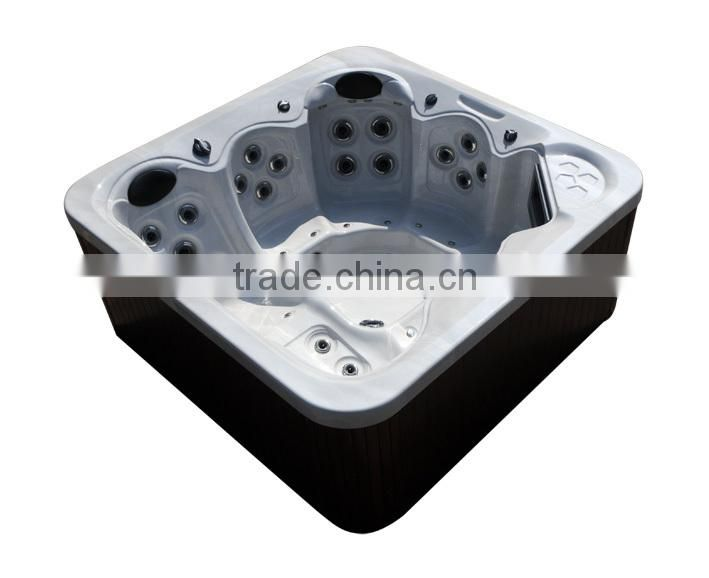 2015 Chinese LED lights for 5 person L312 Lucite Acrylic Outdoor Massage Bathtub