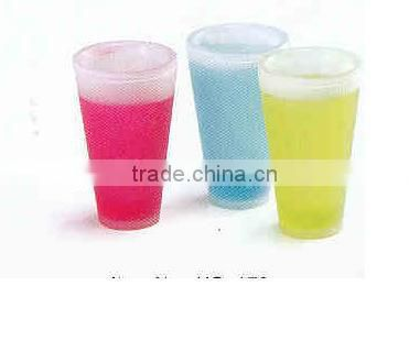 plastic ice cup with handle in new style