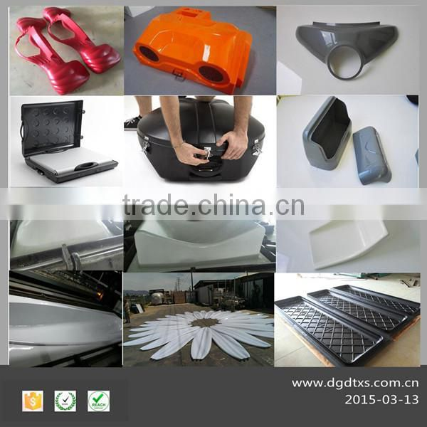 Diffused thermoforming lighting cover with iron base