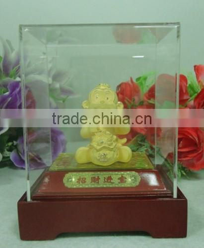 Retail Gold Plated Chinese Zodiac Monkey Character for Souvenir gift
