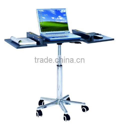 Adjustable Rolling Portable Mobile Computer Notebook Desk Stand Laptop Table