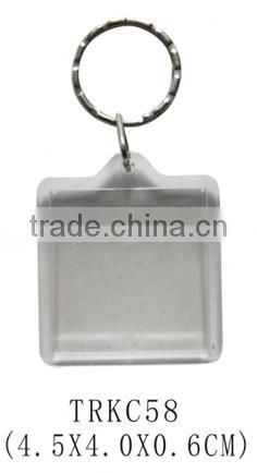 Good quality acrylic clear transparent keychain with custom design paper