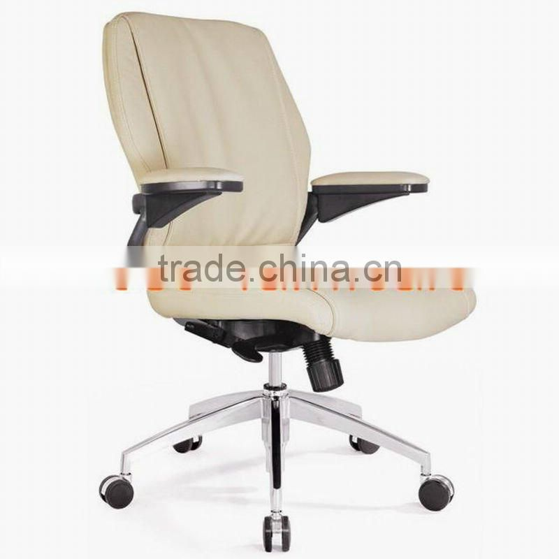 Fixed leg leather arm chair 6035C