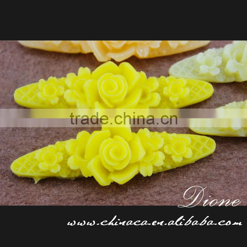 decoration designs decorative artificial colorful small resin flower for crafts