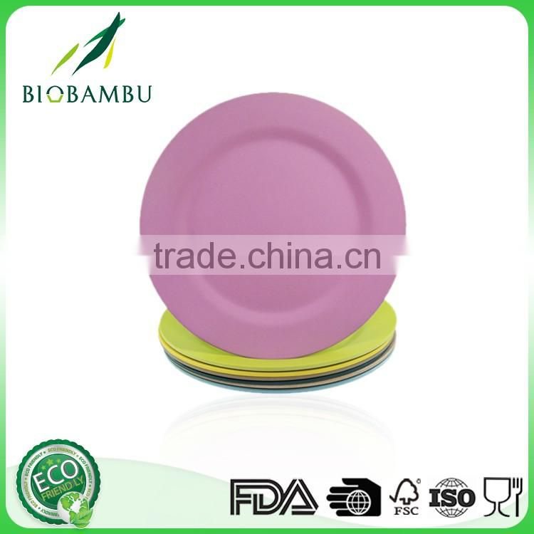 Diswasher safe Best design Non-toxic bamboo fiber hotel used dinner plates