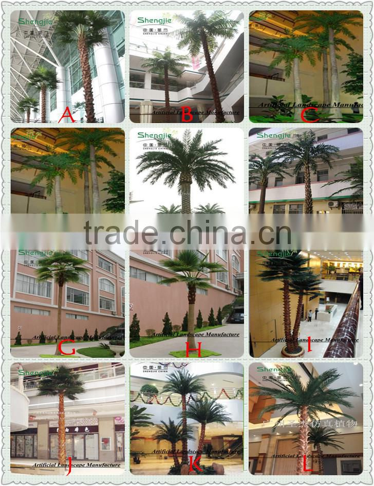 artificial date palm tree with waterproof and UV against big cheap palm trees
