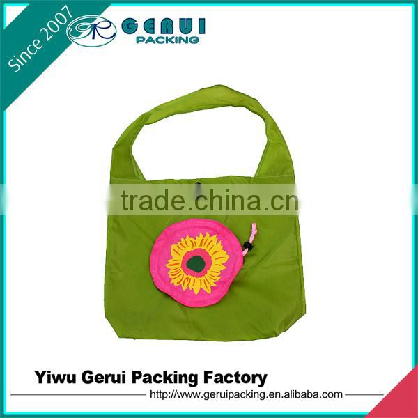 promotional polyester shoulder bag in sunflower design