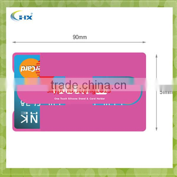 Silicone 3m Sticker Smart Wallet Mobile Card Holder