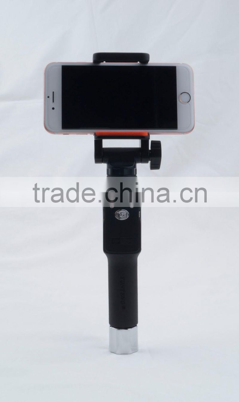 New wholesale monopod selfie stick with bluetooth shutter button YT888