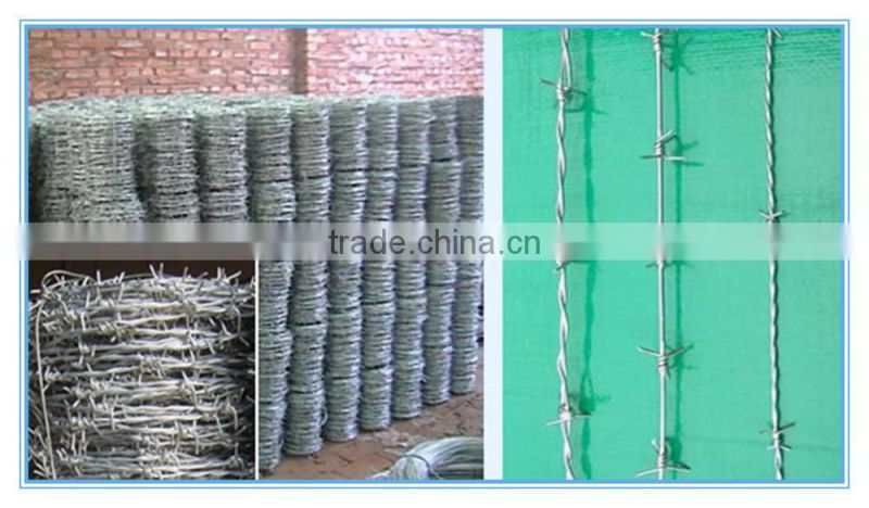 alibaba best supplier high quality cheap galvanized Barbed Wire fence made in China