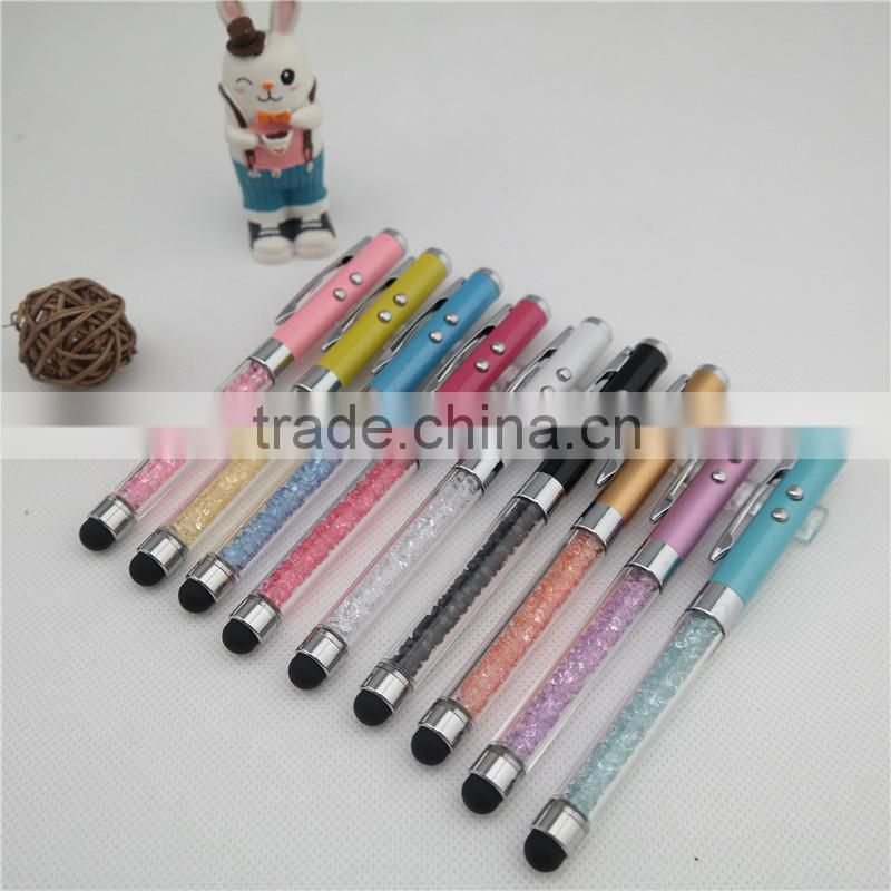 Red Laser Pointer Pens , promotional led pen , stylus pen with crystal for gift