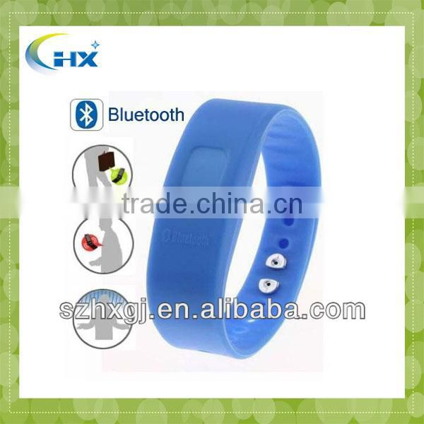 2014 Wholesale Silicone Bracelet Vibrating LED Bluetooth Bracelet with caller id EF01