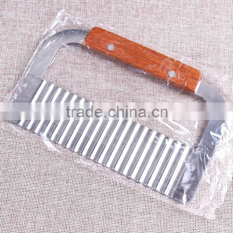 "Update International New 7"" Wide Commercial Crinkle, Garnish, Potato Vegetable Cutter Cutting Tool, Stainless Steel"