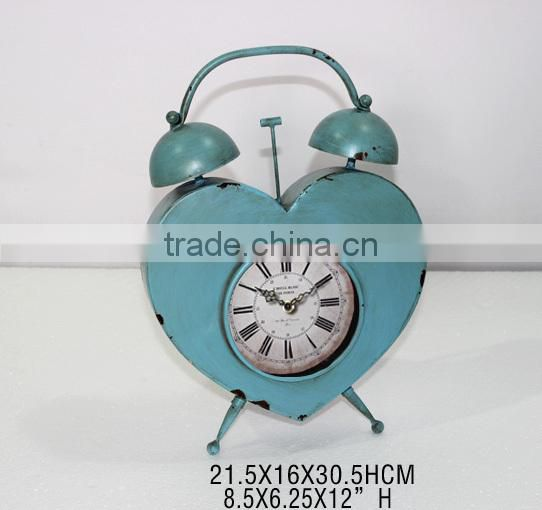 Blue Heart Shaped Desktop Clock
