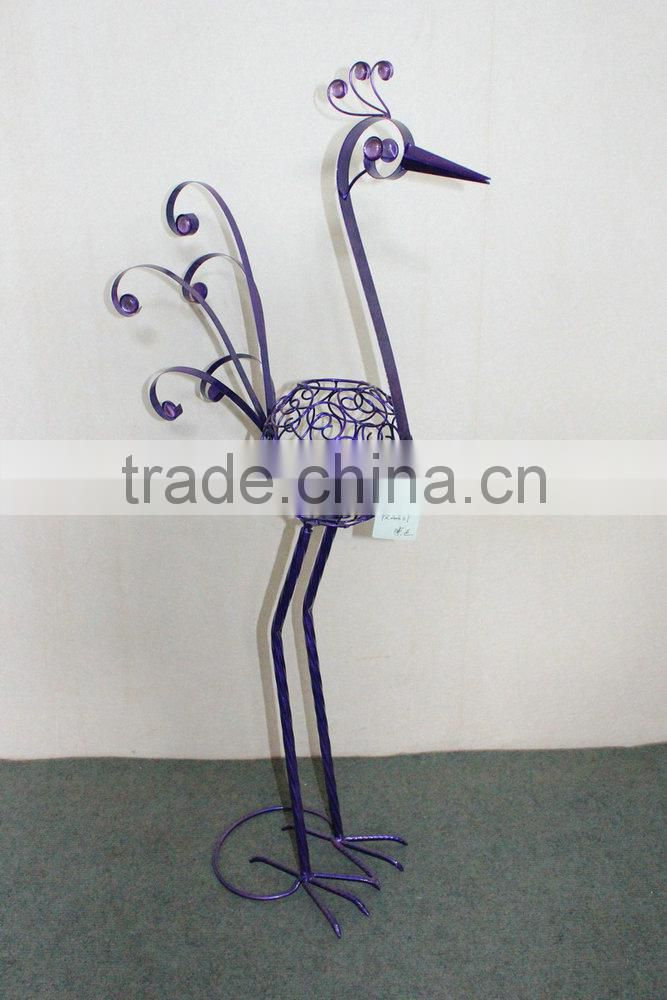 Metal peacock garden decoration